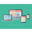 Responsive Web Design on devices notebook monitor vector image