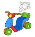Scooter Coloring book page vector image