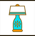 table lamp graphic close up colorful vector image