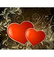 valentine gold vector image