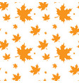 yellow maple leaf autumn seamless pattern vector image