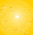 Yellow Unwrapped Giftbox vector image