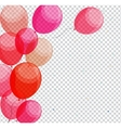 Glossy Happy Birthday Balloons on Transparent vector image vector image