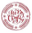 Impress printing stamp Merry Christmas vector image