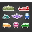 Set of stickers transport color signs vector image
