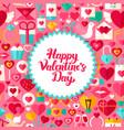 flat valentine day postcard vector image