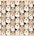 animal seamless dog pattern pug cartoon vector image