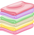 Stack of towels vector image vector image