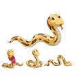 Snake series vector image