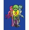 Aliens crew vector image
