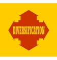 arrow cross with word diversification vector image
