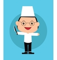 Chef kids vector image