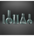 Chemical realistic test tubes set vector image