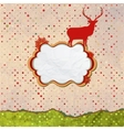 Christmas Invitation card template design EPS 8 vector image