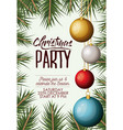 christmas party card with colorful garlands and vector image