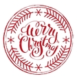 Impress printing stamp Merry Christmas vector image