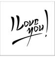 Love lettering Handmade Calligraphy vector image