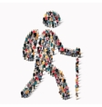 people shape man traveler vector image