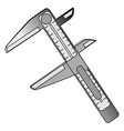 vernier callipers vector image