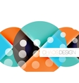 Dotted circles abstract background vector image