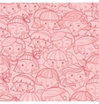 Girls in the crowd seamless pattern background vector image vector image