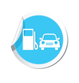 petrol station AND car4 BLUE LABEL vector image vector image