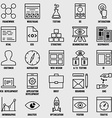 Set of seo and internet service icons - part 1 vector image vector image