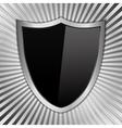 black shield vector image