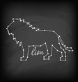 abstract line and dot lion vector image