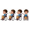 Boy on wheelchair vector image