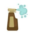 cleaner in bottle with spray for dirt removal vector image