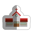 Isolated house church design vector image