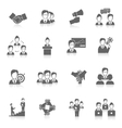 Teamwork icons black vector image