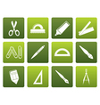 Flat school and office tools icons vector image vector image