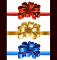 festive bow vector image vector image