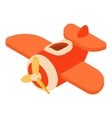Toy airplane icon cartoon style vector image