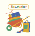 Flea market vector image