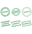 Sunday stamps vector image vector image