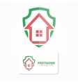 House with shield logo design concept vector image