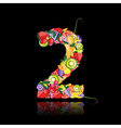 number two made from fruits vector image vector image