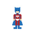 pixel people superhero avatar vector image