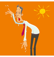 man on a hot day vector image