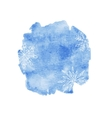Blue watercolor christmas background vector image