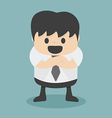 Businessman with folded arms vector image