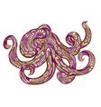 ethnic octopus vector image