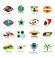 eye blinker business icon daylight glimmer vector image