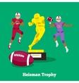 Heisman Trophy Concept Flat Design vector image