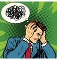 Male headache confused vector image