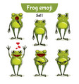 set of cute frog characters set 1 vector image
