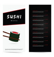 sushi japanese food in color vector image